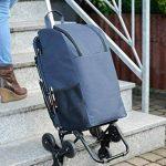 Wenko 84601500chariot de courses avec assise, trois de roue kit pour les escaliers–35litre en aluminium, 36.5x 103x 65cm, Argent mat de la marque Wenko image 2 produit