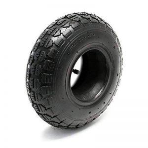 WilTec Pneu pour Tracteur à pelouse 11x4.00-4 4pr avec Chambre à air et Valve Coudée Tondeuse à Gazon de la marque WilTec image 0 produit