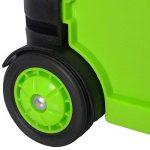 WOLTU EW4801gn-1 Chariot supermarché,Chariots de courses,Caddy pour les courses,Chariots pliante poids de roulement 35kg caddies Noir Vert de la marque WOLTU image 3 produit