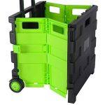 WOLTU EW4801gn-1 Chariot supermarché,Chariots de courses,Caddy pour les courses,Chariots pliante poids de roulement 35kg caddies Noir Vert de la marque WOLTU image 2 produit