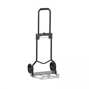 Xclou Diable de manutention pliable poids maximal 90kg - Chariot de transport industriel avec 2 roues - Diable en acier 1,00 cm gris de la marque Xclou image 0 produit