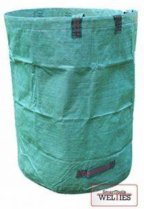 XXL 300L qualité professionnelle Sac avec poignée Coutures Renforcées stable indéchirable pour transporter ou kompostieren les déchets de jardin 300 Liter vert de la marque WeltiesSmartTools image 0 produit