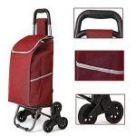 ZWW Chariot De Courses Pliable transport léger,de marché Caddie à Six Roues Poussette,Pratique Monter et descendre les escaliers - couleur en option, A de la marque ZWW image 3 produit