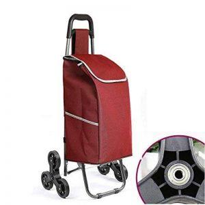 ZWW Chariot De Courses Pliable transport léger,de marché Caddie à Six Roues Poussette,Pratique Monter et descendre les escaliers - couleur en option, A de la marque ZWW image 0 produit